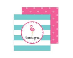 Pink Flamingo Favor Tag Pink Flamingo Birthday by paigesimple, $7.00