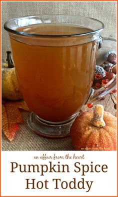 Pumpkin Spice Hot Toddy - Nothing like a hot toddy to take the chill off — next time make it extra special, make it pumpkin spiced! Made with Tate + Lyle Honey Granules #TLHoneyGranulesCG @tatelylesugarus by An Affair from the Heart