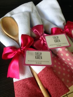Great idea as a bridal shower favor. Bride Shower, Bridal Shower Party, Bridal Shower Decorations, Dish Towel Crafts, Dish Towels, Cocktail Party Food, Adult Party Themes, Wedding Gifts For Guests, Cheap Gifts