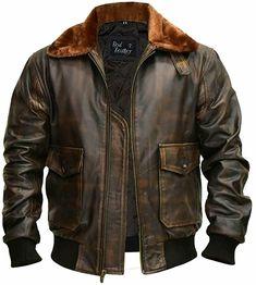 Mens Leather Bomber Jacket, Bomber Jacket Winter, Flight Bomber Jacket, Leather Men, Mens Coats And Jackets, Leather Jackets For Men, Mens Pilot Jacket, Mens Military Style Jacket, Mens Biker Style