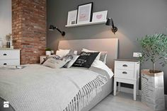 Riviera of blue - Średnia sypialnia małżeńska, styl skandynawski - zdjęcie od SHOKO.design
