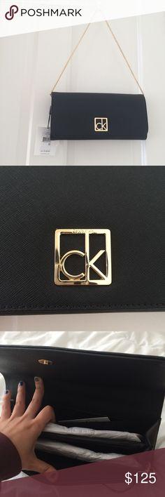d936f1a4ac03f NWT Calvin Klein gold and black mini purse handbag NWT Calvin Klein gold  and black mini