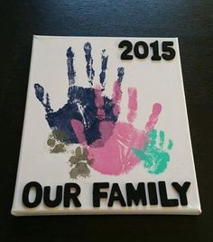 Baby diy crafts canvas New Ideas Kids Crafts, Family Crafts, Crafts To Do, Arts And Crafts, Family Art Projects, Kids Diy, Family Activities, Crafts With Baby, Baby Feet Crafts