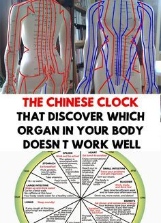 The body is constructed to contain a meridian energy system! The Chinese Clock That Discover Which Organ in Your Body Doesn't Work Well!