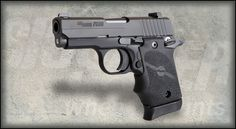 Sig Sauer 9mm para P938 Black Rubber Grip.. I love this petite 9mm, it's perfect to carry inside my waistband.