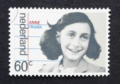Anne Frank Dutch postage stamp