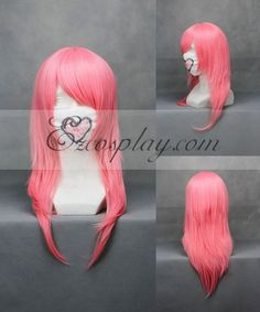Kingdom Hearts Marluxia Pink Cosplay Wig-171A
