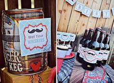 Wet your whiskers - Mustache party