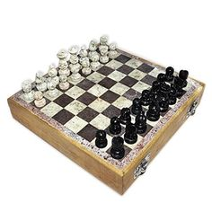 Wooden Chess Set Marble Pieces from India 8 >>> Find out more about the great product at the image link.