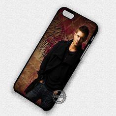 Man Black Wing Dean Winchester Jensen Ackles Supernatural - iPhone 7 6 5 SE Cases & Covers