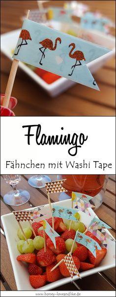 So bastelst du tolle Fähnchen mit Washi Tape
