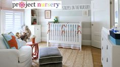 Painting Stripes in the Nursery - Project Nursery shares their favorite striped nurseries {video}