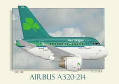 Airbus A320 operated by Aer Lingus. The first new caricature of the New Year. And hopefully of many A320's