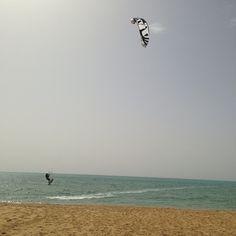 Kitesurfing in Ras Sudr, Egypt
