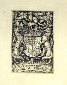 Ex Libris//Bookplates: Bookplate Earl Ilchester