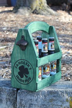 Your place to buy and sell all things handmade Beer Caddy, Rustic Wood, Cool Stuff, Stuff To Buy, Emerald, Buy And Sell, Creative, Outdoor Decor, Handmade