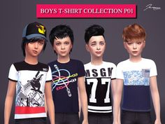 Boys T-shirts Collection P.01 Found in TSR Category 'Sims 4 Male Child Everyday'