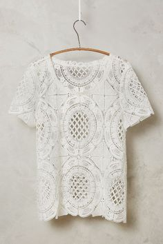 Cutwork Lace Tee #anthrofave