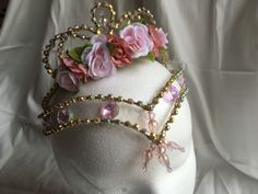 Profesional Oro Rosa AB Cristal Ballet Tiara casco Hada Aurora Dulcinea