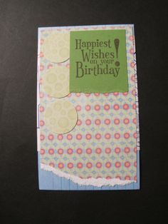 Index Card A Day 2014: card #23. Happiest wishes on your birthday.