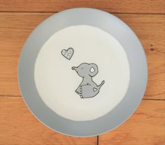 Hand painted plate / Small side plate / Cute by MemoriesLong