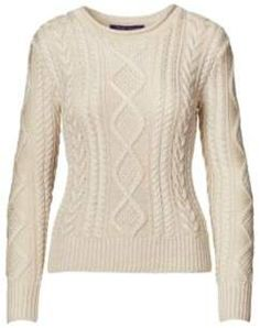Ralph Lauren Hand-Knit Aran Sweater Cream S. Ralph Lauren fashions. I'm an affiliate marketer. When you click on a link or buy from the retailer, I earn a commission.