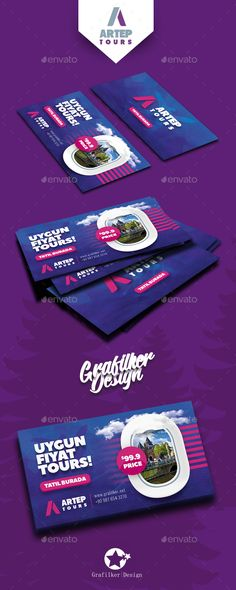 Travel Tours #Business #Card Templates - #Corporate Business Cards Download here: https://graphicriver.net/item/travel-tours-business-card-templates/20131753?ref=alena994
