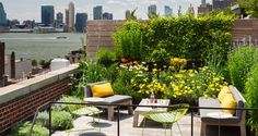 A roof terrace garden is generally used as an additional in urban environment. Roof terrace gardens in the sense of rooftop gardens can be ornamental or functional. Rooftop Terrace, Terrace Garden, Lush Garden, Rooftop Gardens, Balcony Gardening, Green Terrace, Rooftop Party, Terrace Ideas, Rooftop Lounge