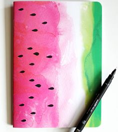 Love the look of this watermelon notebook.