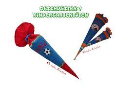 Geschwistertüten-Set, -Hülle+Rohling+Kisseninlett von Die tapfere Schneiderin, handmade with love ... by Viola auf DaWanda.com