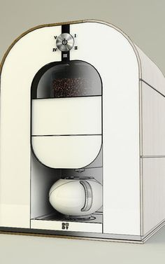 This Coffee Maker Is A Roaster, Grinder, And Barista, All In One //white minimal geometric