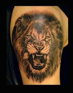 The king: 105 best lion tattoos for men Lion Head Tattoos, Mens Lion Tattoo, Cross Tattoo For Men, Lower Back Tattoo Designs, Tattoo Designs Men, Lower Back Tattoos, Leopard Tattoos, Lion Rasta, Lion Tribal
