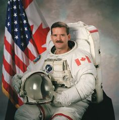 INDIVIDUAL #3 - Chris Hadfield - 1959-Present - Just recently, Chris Hadfield got back from being the first Canadian commander of the international space station (Hadfield, 11). Just a couple years ago, this would seem crazy. Hadfield inspires Canadians everywhere to dream big, and gives them hope. This photo shows how Chris Hadfield united Canadians and the United States.