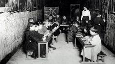 Classe dans une cave à Reims - 14-18