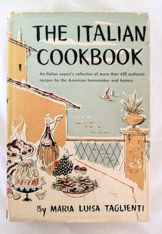 Mid Century The ITALIAN COOKBOOK By Maria Luisa Taglienti Great Book of Traditionals by thriftnstyle. Explore more products on http://thriftnstyle.etsy.com