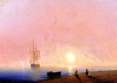 Russian Painter: Ivan Aivazovsky - 'Farewell'