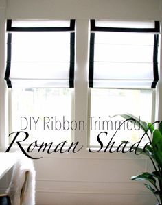 Sewing Projects for The Home - DIY Ribbon Trimmed Roman Shades  -  Free DIY Sewing Patterns, Easy Ideas and Tutorials for Curtains, Upholstery, Napkins, Pillows and Decor http://diyjoy.com/sewing-projects-for-the-home