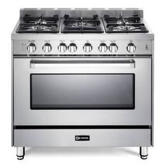 """Check out the Verona VEFSGE365SS 36"""" Dual Fuel Range with"""