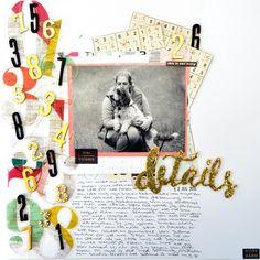 Destails 12x12 using C'est La Vie by Pink Pasilee - Julia K