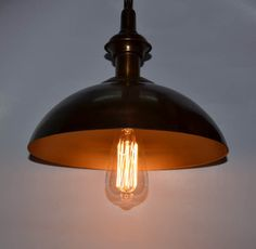 Antique gold and brass pendant lamp