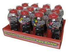 Sugarman Candy Broward - Gumball Machine Toy Bank 12 Count 1 Pack, $17.10 (http://www.sugarmancandybroward.com/gumball-machine-toy-bank-12-count-1-pack/)
