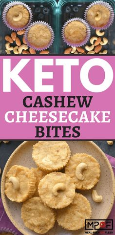 Keto Cashew Cheesecake Bites - These 3 ingredient Cashew Cheesecake Bites make an irresistibly tasting high protein, high fat snack. Lightly sweetened with cinnamon and easy to make! #mealprep #keto #ketorecipes #ketodiet #ketogenic