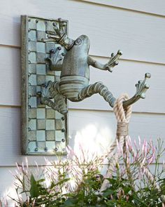 Frog Plant Hanger by MacKenzie-Childs at Horchow. If anybody wants to know what Destinie wants for her birthday....