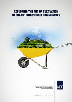Ad campaign for KEF Holdings (Agriculture). by Sumesh Sreedhar, via Behance Creative Poster Design, Ads Creative, Creative Posters, Creative Advertising, Graphic Design Posters, Agriculture Projects, Agriculture Quotes, Agriculture Logo, Urban Agriculture
