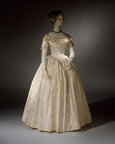 Evening Dress 1845 The Metropolitan Museum of Art