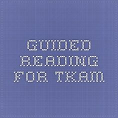 Guided Reading for TKAM