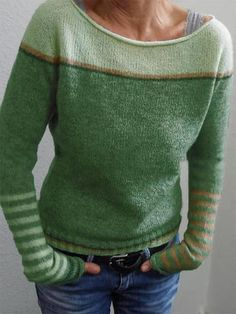 Long Sleeve Stripe Contrast Color Sweater For Women is on sale at reasonable prices, having a beautiful sweater & cardigan, you can own a beautiful autumn. Casual Sweaters, Sweaters For Women, Raglan Pullover, Sweatshirt, How To Purl Knit, Knit Purl, Pulls, Long Sleeve Sweater, Long Cardigan