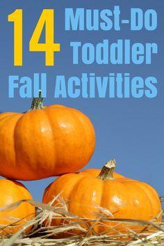 14 Must-do Fall Toddler Activities
