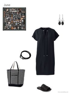 black dress with accessories for summer