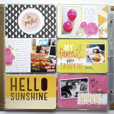 Paperikaramelli: Project Life February 2015 (Journaling cards from Heidi Swapp - Favorite Things and Dear Lizzy - Lucky Charm)